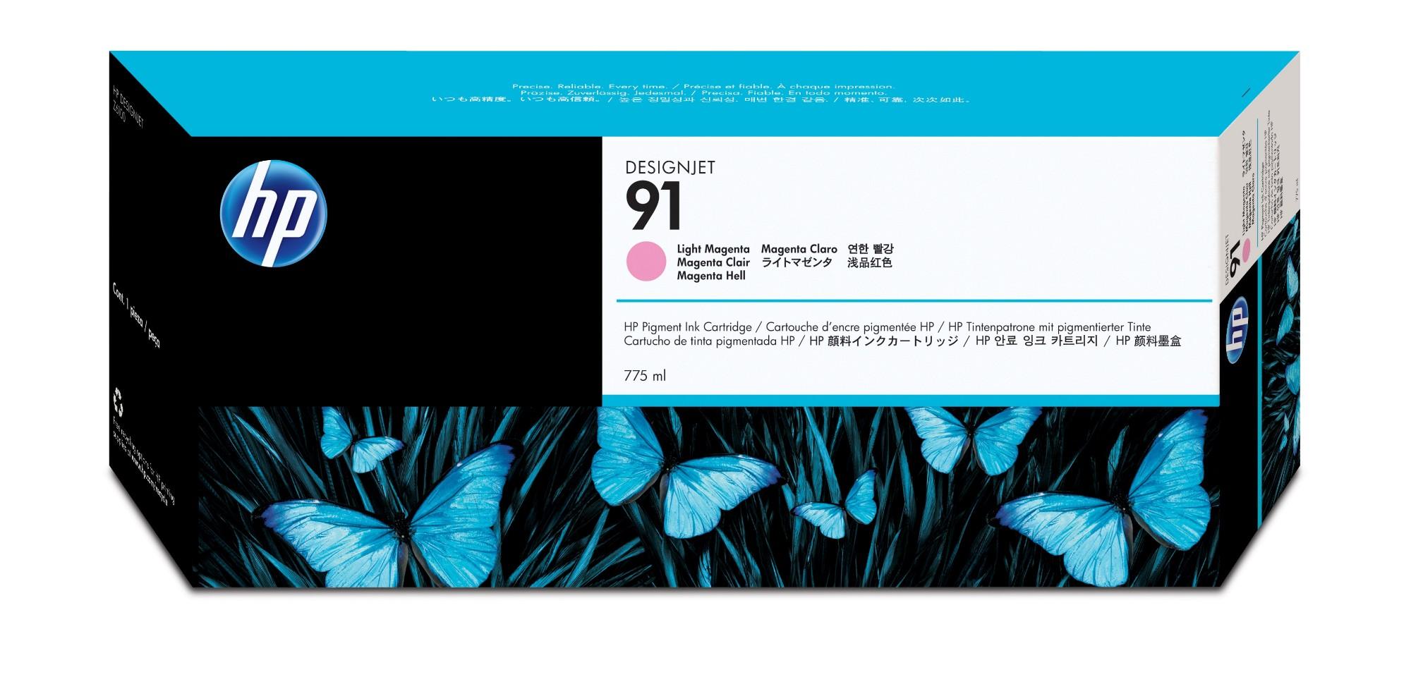 HP 91 Original Magenta claro 1 pieza(s)