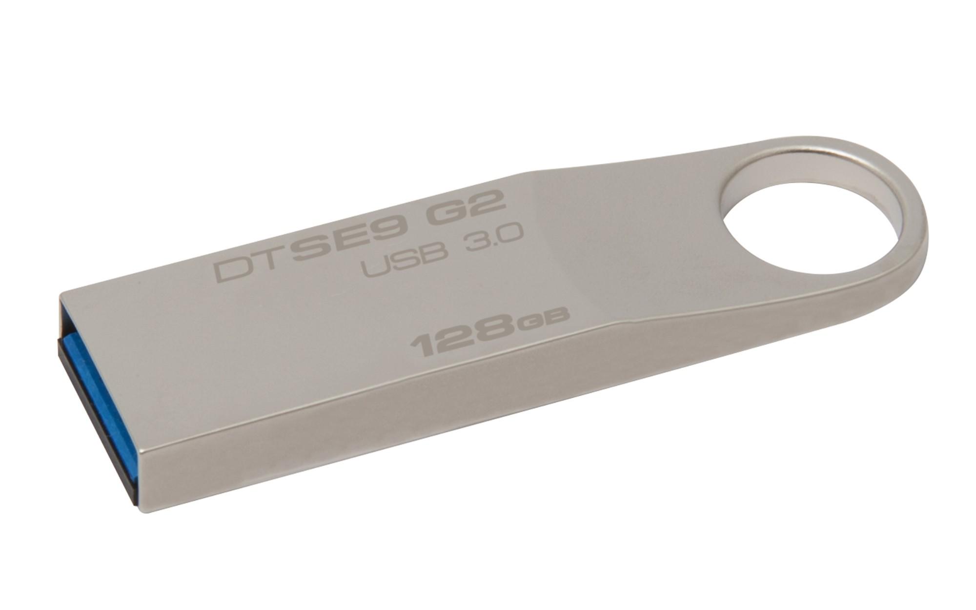 Kingston Technology DataTraveler SE9 G2 128GB USB flash drive 3.0 (3.1 Gen 1) USB Type-A connector Silver