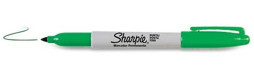 Sharpie Fine Point permanent marker Green Fine tip