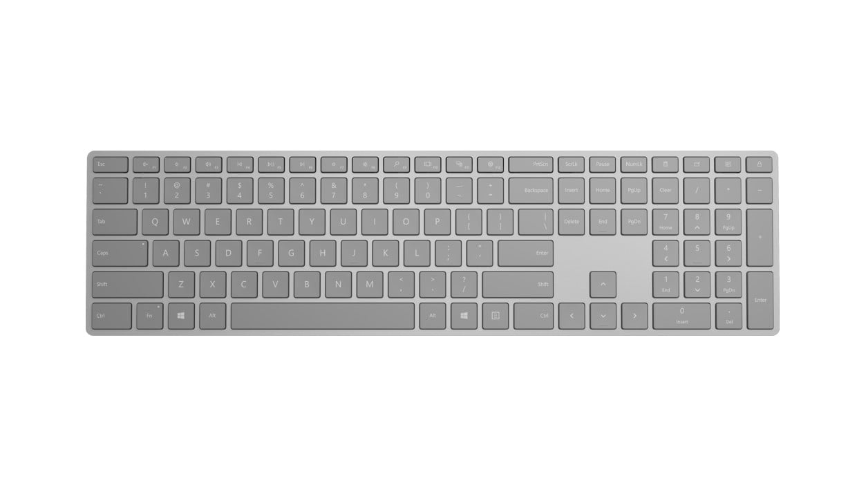 Microsoft Surface keyboard teclado RF Wireless + Bluetooth Español Gris
