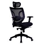 Eliza Tinsley Newton Hi Bck Mesh Executive Armchair With Headrest Black DD