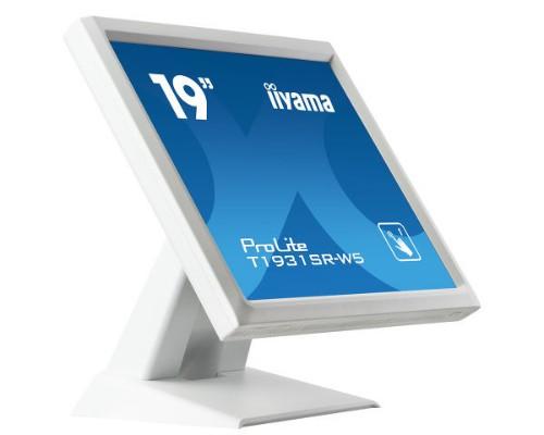 "iiyama ProLite T1931SR-W5 touch screen monitor 48.3 cm (19"") 1280 x 1024 pixels White"