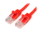 StarTech.com Cat5e patch cable with snagless RJ45 connectors – 30 ft, red