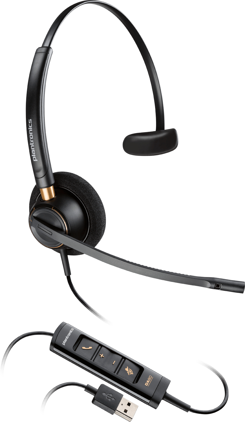 Plantronics EncorePro HW545 Monaural Head-band Black headset