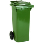 VFM REFUSE CONTAINER 80L 2 WHLD GRN 331331