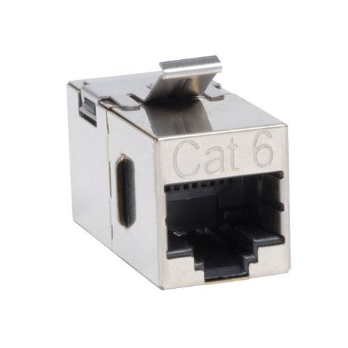 Tripp Lite Cat6 Straight Through Modular Shielded In-line Snap-in Coupler (RJ45 F/F)