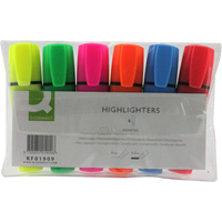 Q-CONNECT KF01909 felt pen Fine/Medium Blue,Green,Orange,Pink,Red,Yellow 6 pc(s)