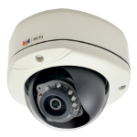 ACTi E77 IP security camera Outdoor Dome Black,White security camera