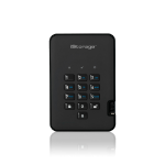 iStorage diskAshur2 256-bit 8TB USB 3.1 secure encrypted solid-state drive - Black IS-DA2-256-SSD-8000-B