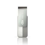 Team Group USB Drive 32GB, C142, USB2.0, White & Silver, Rotating, Capless, 15MB/s Read*, 15g, Lifetime Warranty