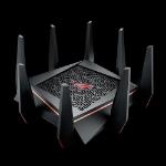 ASUS ROG Rapture GT-AC5300 wireless router Tri-band (2.4 GHz / 5 GHz / 5 GHz) Gigabit Ethernet Black