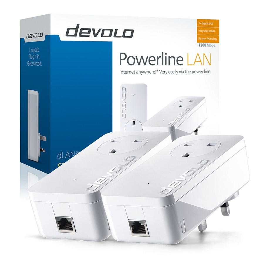 Devolo dLAN 1200+ Starter Kit 1200Mbit/s Ethernet LAN White 2pc(s) PowerLine network adapter