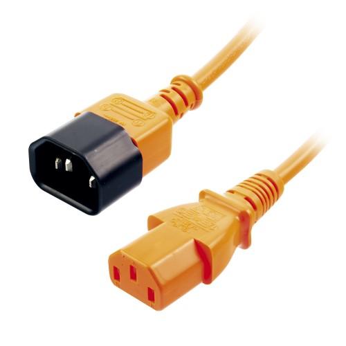 Lindy IEC C14/IEC C13 M/F 1m Black,Orange