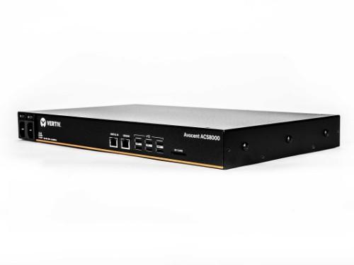 Vertiv Avocent 8-Port ACS 8000 with dual AC Power Supply and Analog Modem - ACS8008MDAC-404