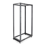 StarTech.com 42U Adjustable Depth Open Frame 4 Post Server Rack Cabinet - Flat Pack w/ Casters, Levelers and Cable Management Hooks