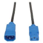 Tripp Lite Standard Computer Power Extension Cord, 10A, 18AWG (IEC-320-C14 to IEC-320-C13, Blue Plugs), 4-ft.