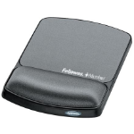 Fellowes Gel Wrist Rest & Mouse Pad Microban Graphite