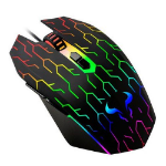 RIOTORO URUZ Z5 Lightning Wired Optical RGB Gaming Mouse, 4000 DPI, 6 Programmable Buttons