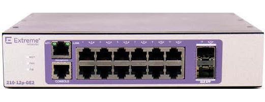 Extreme networks 210-24t-GE2 Gestionado L2 Gigabit Ethernet (10/100/1000) Bronce, Púrpura 1U
