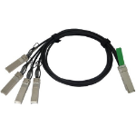 QSFP to 4xSFP10G Passive Copper Splitter Cable, 1m