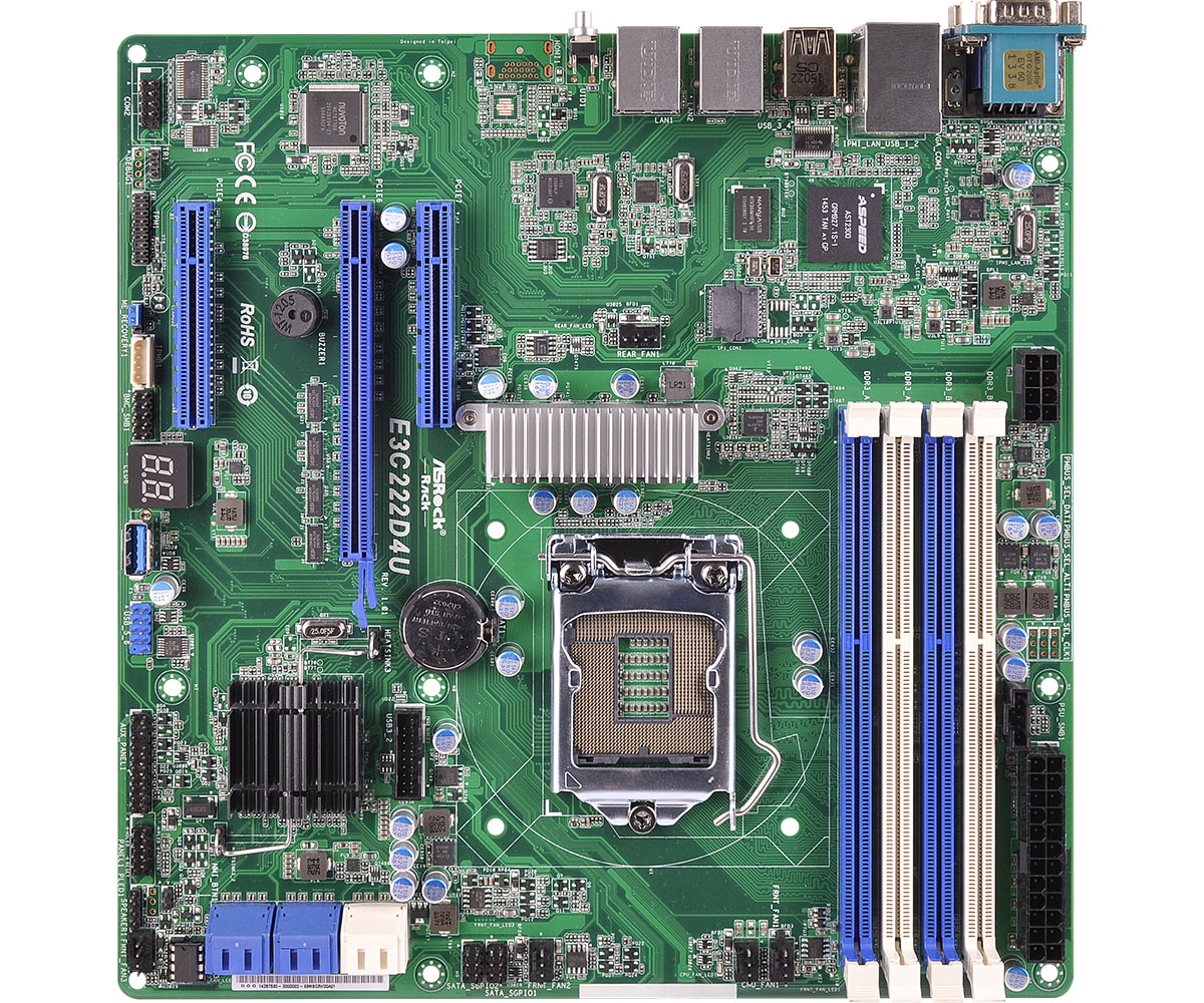 Asrock E3C222D4U Intel C222 Socket H3 (LGA 1150) Micro ATX server/workstation motherboard