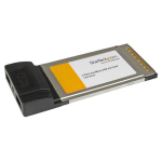 StarTech.com Tarjeta Adaptador PCMCIA CardBus de 2 Puertos USB 2.0 para Laptop Computadora Portátil