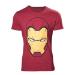 Marvel Adult Male Iron Man Mask T-Shirt, Medium, Red (TS828031CAP-M)