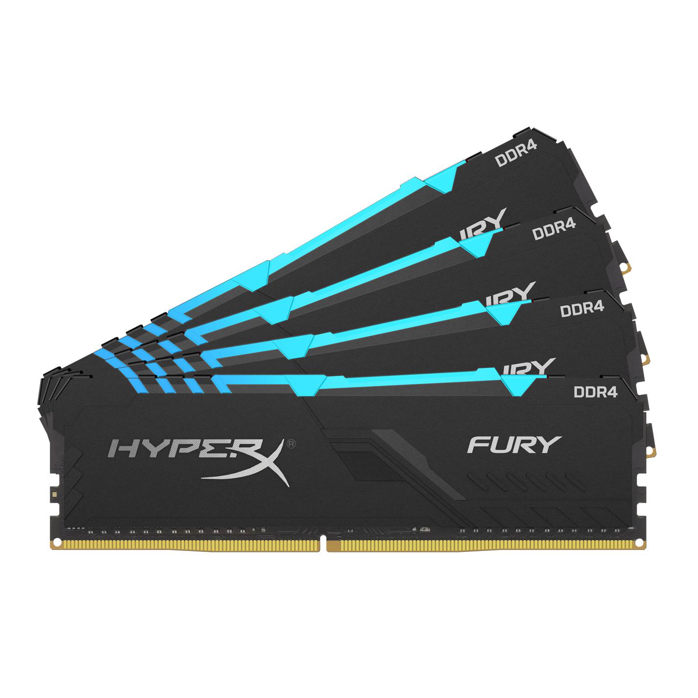 HyperX FURY HX436C17FB3AK4/64 memory module 64 GB DDR4 3600 MHz
