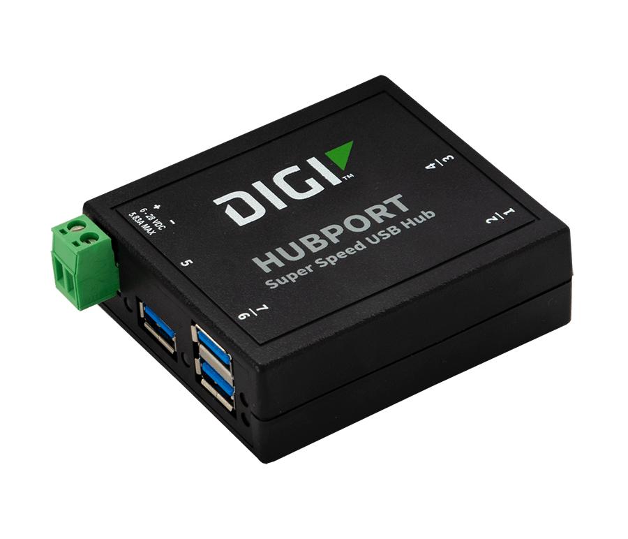 Digi Hubport/7c hub & concentrator USB 3.0 (3.1 Gen 1) Type-B 5555 Mbit/s Zwart