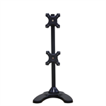 "Newstar Tilt/Turn/Rotate Dual Desk Mount (stand & grommet) for two 10-27"" Monitor Screens ONE ABOVE OTHER, Height Adjustable - Black"