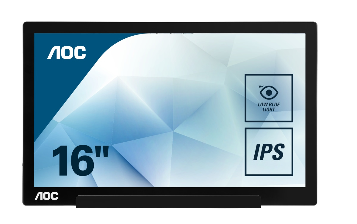 USB monitor - I1601FWUX - 16in - 1920x1080 (Full HD) - 5ms - USB Type-C