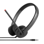 Lenovo Stereo Analog Headset Wired Head-band Office/Call center Black