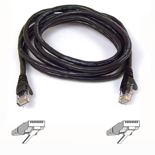 Belkin High Performance Category 6 UTP Patch Cable 2m Black 2m Black networking cable