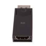 V7 ADPDPHA21-1E tussenstuk voor kabels 1 x 20-pin DisplayPort 1 x 19-pin HDMI Zwart