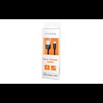 ADATA 1m, USB 2.0-A/Lightning 1m USB A Lightning Black mobile phone cable