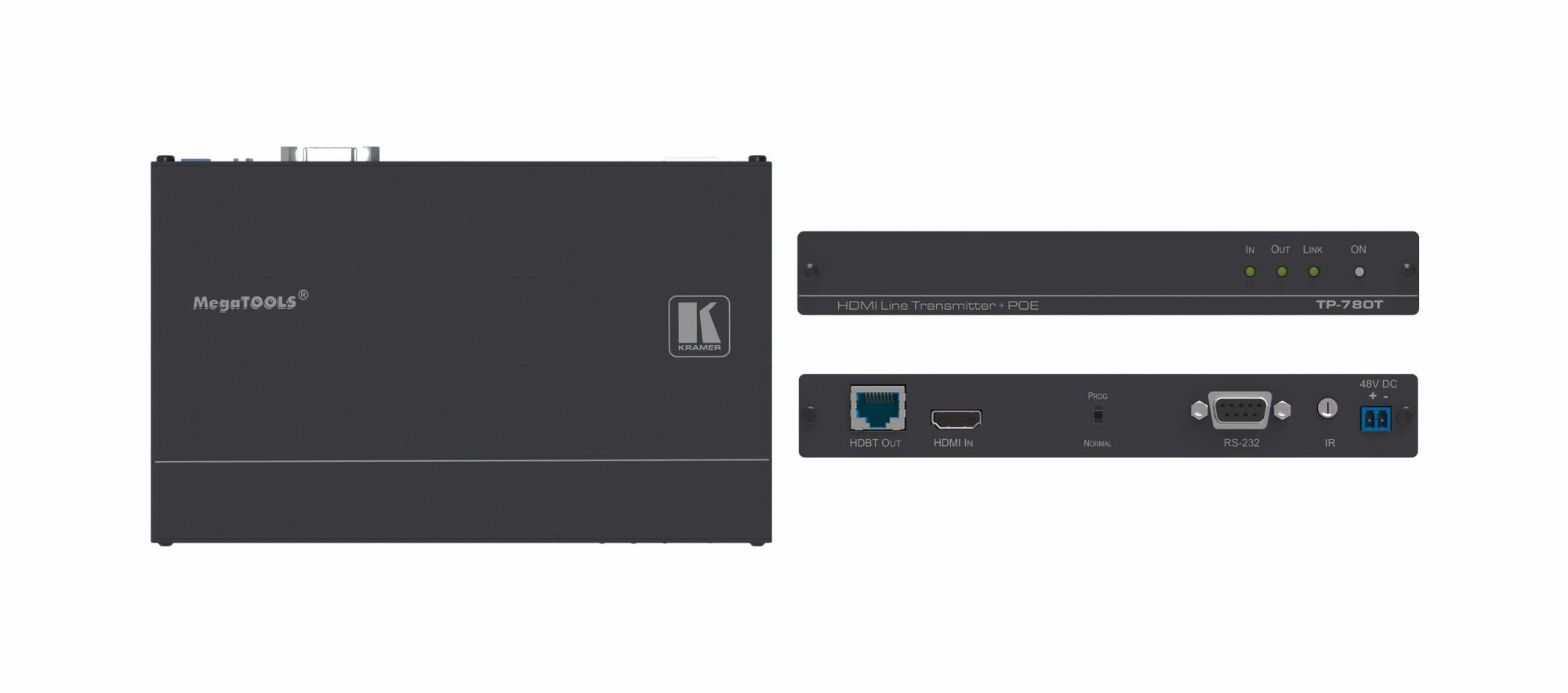 Kramer Electronics TP-780T AV transmitter Black AV extender