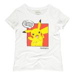 Pokémon Pika Pika Pika PopArt T-Shirt, Female, Small, White (TS353606POK-S)