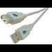Microconnect USB 2.0 A-A 3m M-F USB cable USB A Grey