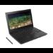 "Lenovo 500e Black Chromebook 29.5 cm (11.6"") 1366 x 768 pixels Touchscreen 1.10 GHz Intel® Celeron® N3450"
