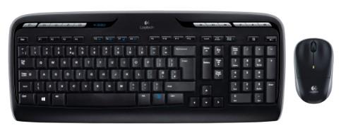 Logitech MK330 keyboard RF Wireless AZERTY Belgian Black