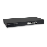 Intellinet 560849 Fast Ethernet (10/100) Power over Ethernet (PoE) Black network switch