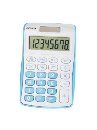 Genie 120 B calculator Pocket Display Blue, White