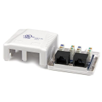 StarTech.com Dual Cat 5e RJ45 Wall Jack White with Keystone Jacks
