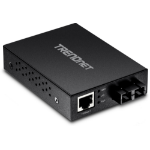 Trendnet TFC-FMSC network media converter 200 Mbit/s 1310 nm Black