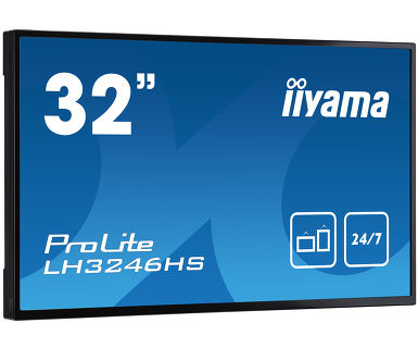 "iiyama LH3246HS-B1 signage display 80 cm (31.5"") LED Full HD Digital signage flat panel Black"