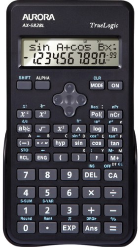 Aurora AX-582BL calculator Pocket Scientific Black