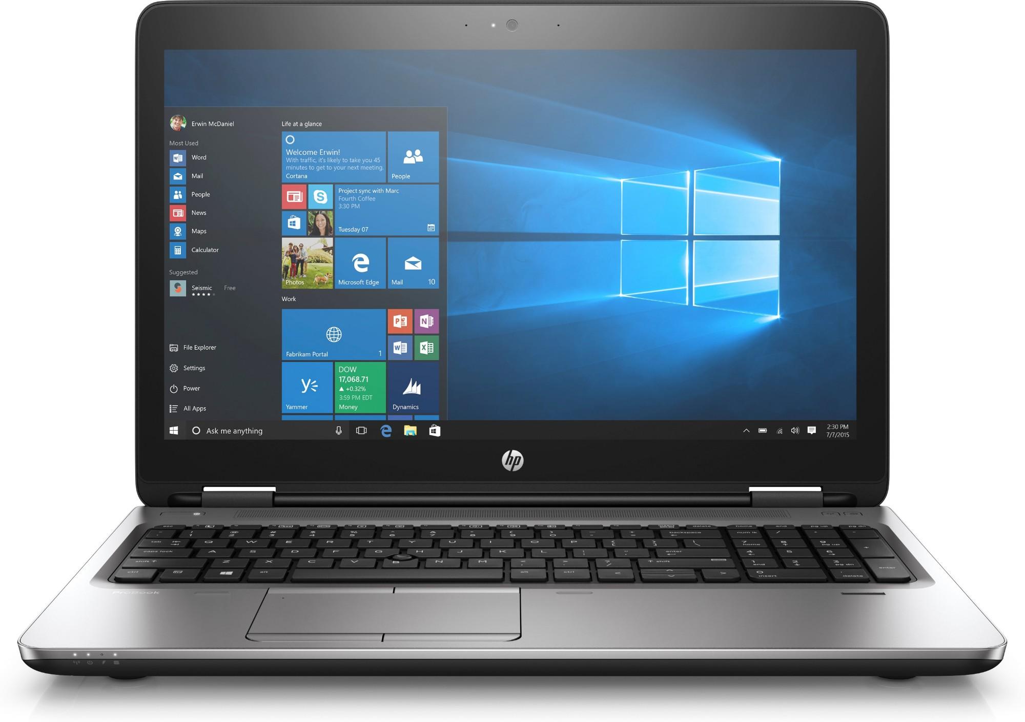 HP ProBook 650 G3 2.60GHz i5-7300U 7th gen Intel® Core™ i5 15.6
