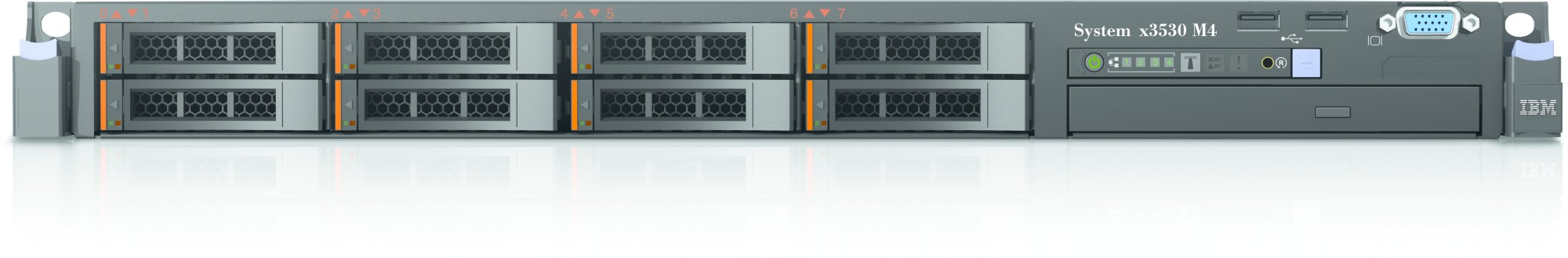 IBM System x 3530 M4 1.9GHz E5-2420 460W Rack (2U) server