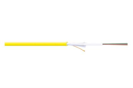 Digitus E09/125 OS2, 1m fibre optic cable Yellow