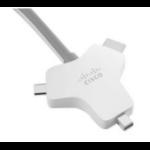 Cisco CAB-HDMI-MUL4K-9M= video cable adapter HDMI Type A (Standard) HDMI + Mini DisplayPort + USB C Silver